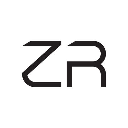 zr initial letter vector logo icon Logó