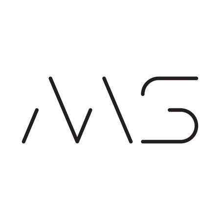 ms initial letter vector logo icon