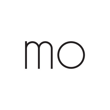 MO initial letter logo template vector icon design