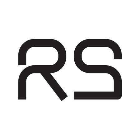 rs initial letter vector logo icon