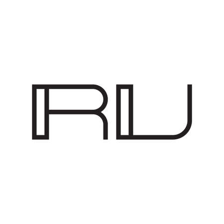 ru initial letter vector logo icon