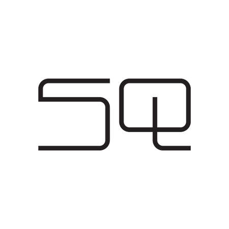 sq initial letter vector logo icon Logó