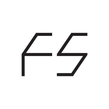 fs initial letter vector logo icon