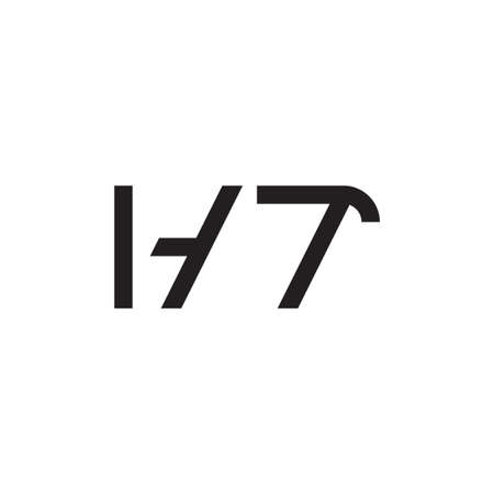 ht initial letter vector logo icon