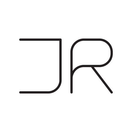 jr initial letter vector logo icon