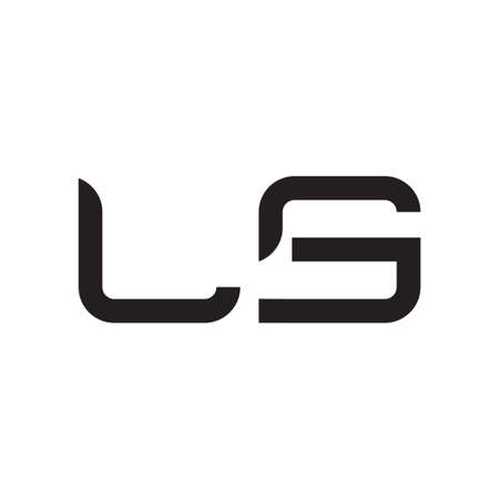 ls initial letter vector logo icon