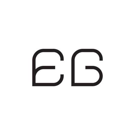 eg initial letter vector logo icon