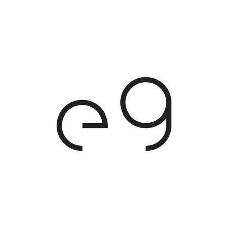 eg initial letter vector logo icon Ilustração