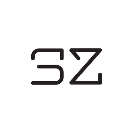 sz initial letter vector logo icon Logó