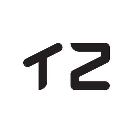 tz initial letter vector logo icon Logó