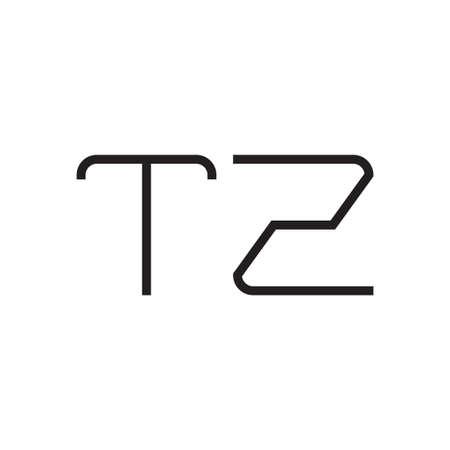 tz initial letter vector logo icon
