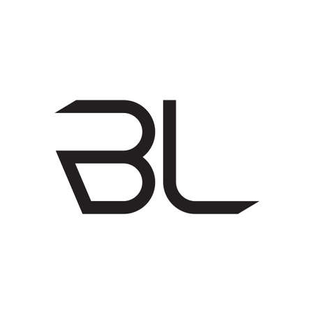 bl initial letter vector logo icon Logó
