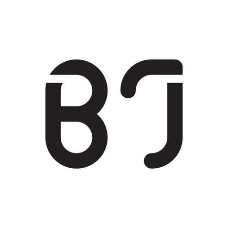 bj initial letter vector logo icon