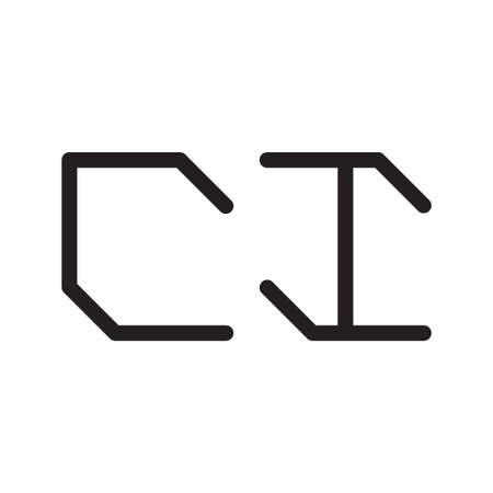 ci initial letter vector logo icon Illusztráció
