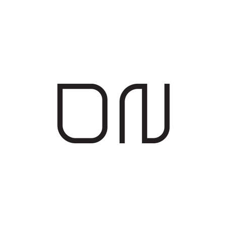 dn initial letter vector logo icon