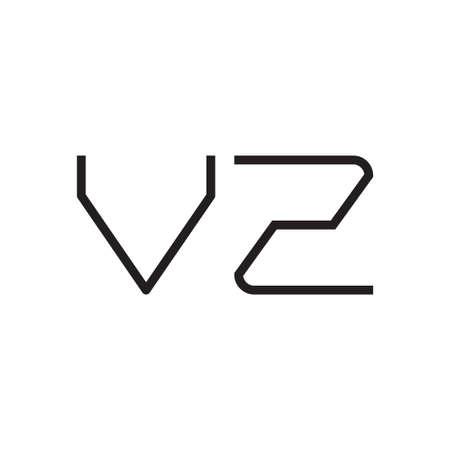vz initial letter vector logo icon