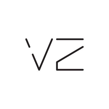 vz initial letter vector logo icon Logó