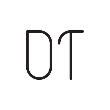 dt initial letter vector logo icon