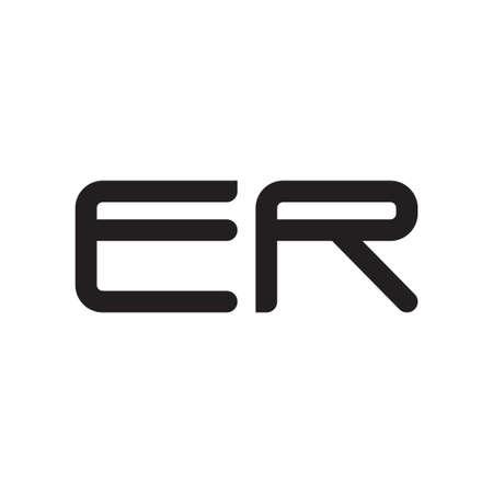 er initial letter vector logo icon