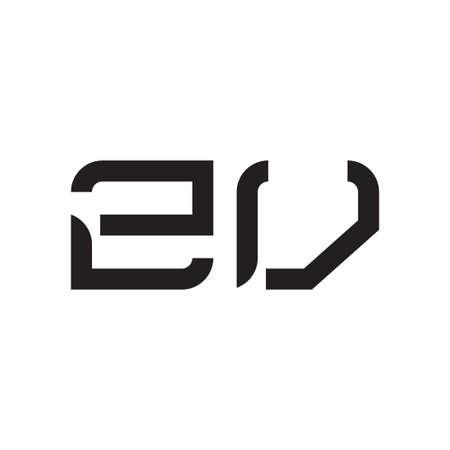 zv initial letter vector logo icon