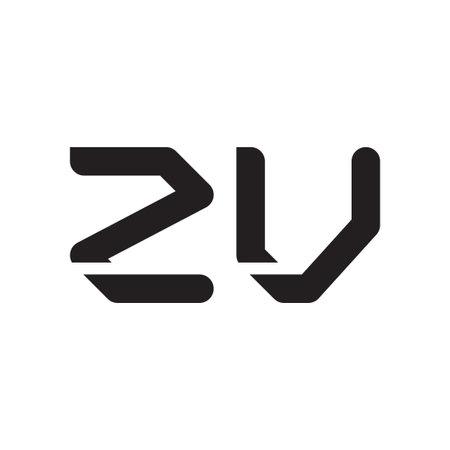 zv initial letter vector logo icon Logo
