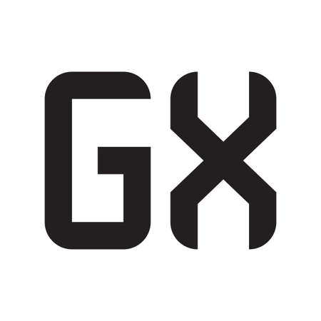 gx initial letter vector logo icon Logó