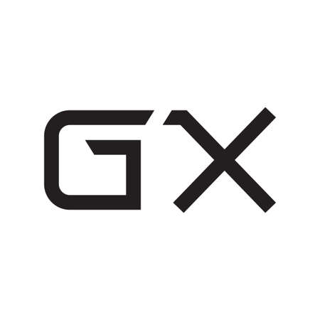 gx initial letter vector logo icon