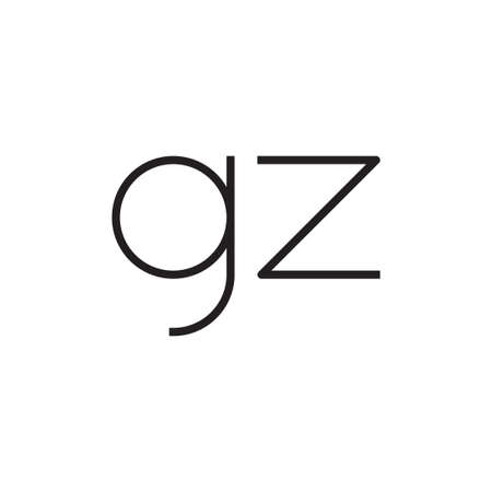 gz initial letter vector logo icon Logó