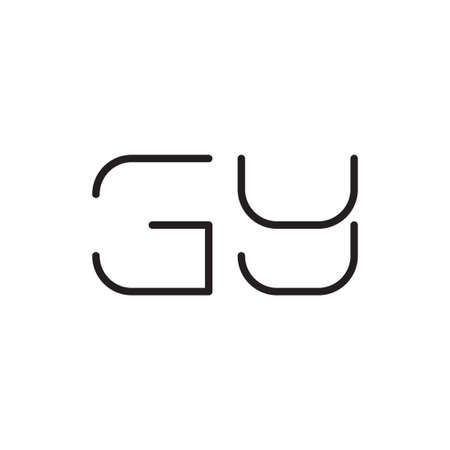 gy initial letter vector logo icon Logó