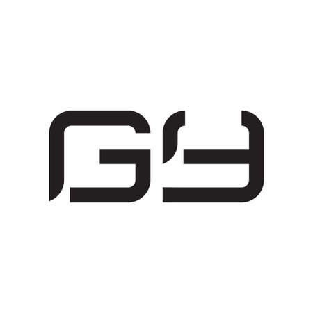 gy initial letter vector logo icon