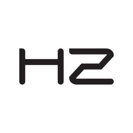 hz initial letter vector logo icon