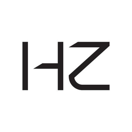hz initial letter vector logo icon Logó