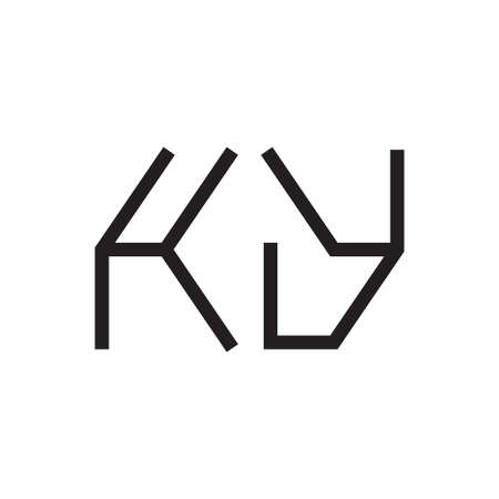ky initial letter vector logo icon