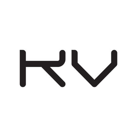 kv initial letter vector logo icon