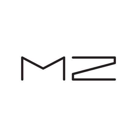 mz initial letter vector logo icon Logó