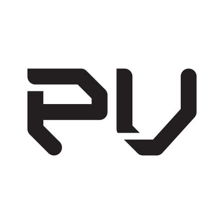 pv initial letter vector logo icon