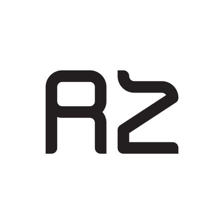 rz initial letter vector logo icon Logó