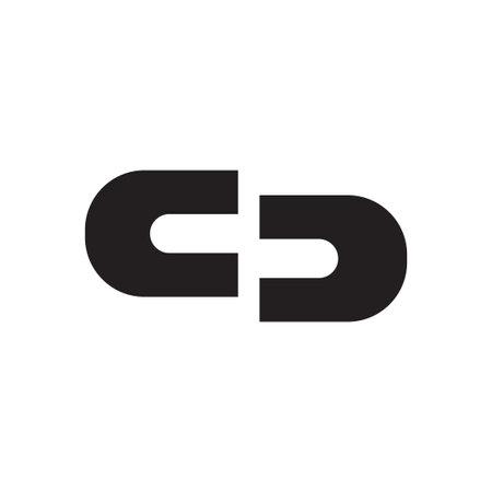 cd initial letter vector logo