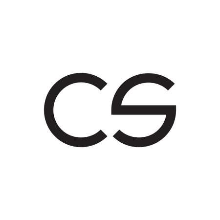 cs initial letter vector logo