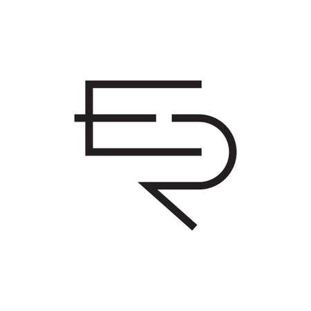 er initial letter vector logo