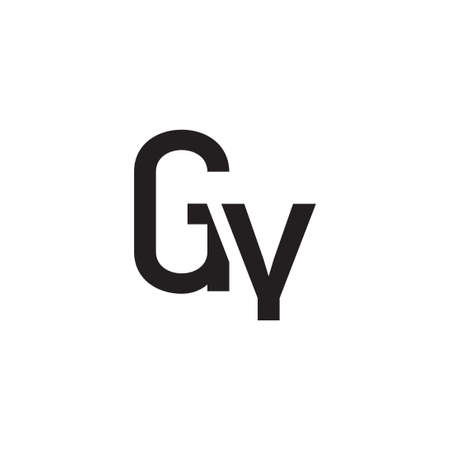 gy initial letter vector logo