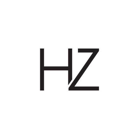 hz initial letter vector logo