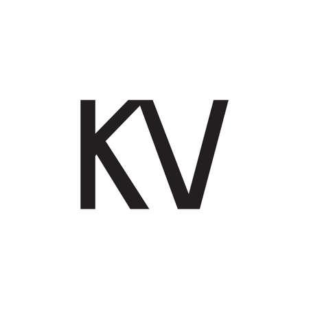 kv initial letter vector logo