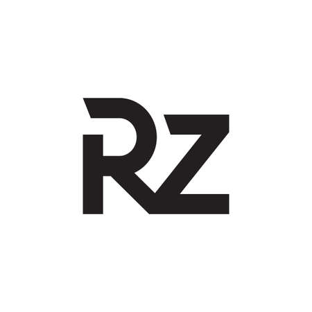 rz initial letter vector logo