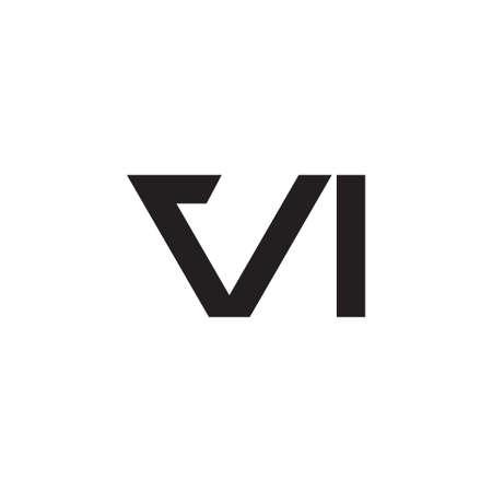 vi initial letter vector logo