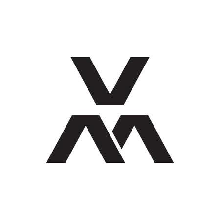 vm initial letter vector logo