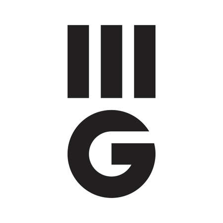 mg initial letter vector icon