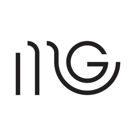 mg initial letter vector logo Logo