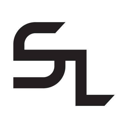sl initial letter vector Vektoros illusztráció