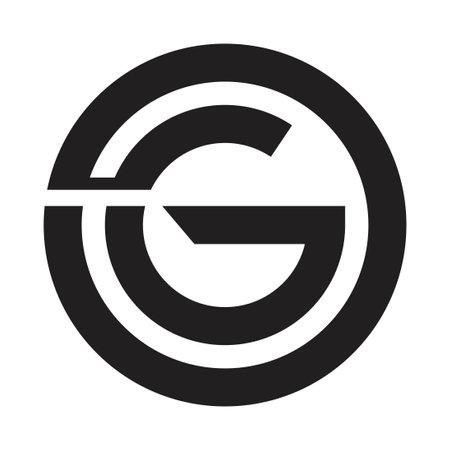 og initial letter vector logo